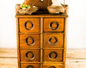 Primitive spice rack/ spice cabinet/ apothecary