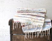 vintage braided rag runner - beach farmhouse style