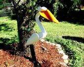 Proud PVC Pelican lawn art sculpture
