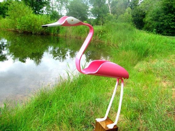 Items similar to Pink Flamingo PVC yard art sculpture on Etsy