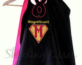 Superhero Cape and Mask Set with Large Font Upgrade