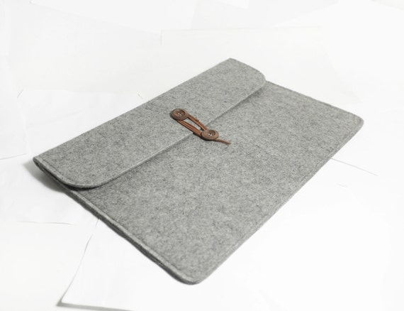 "Macbook pro 15"" Retina Macbook Sleeve Wool Felt Custom Made Felt Case Cover Bag for Macbook pro 15""Retina -B2035R"
