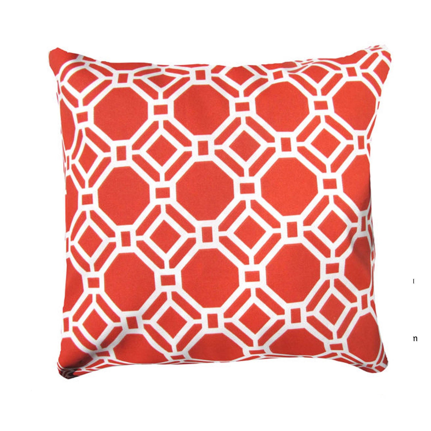 Coral Pillow Cover Modern Pillow Coral/White by AnyarwotDesigns