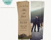 Save the Date Bookmark Vintage Wedding Rustic Wedding Bookmark save the date library wedding bookmark it kraft burlap wedding