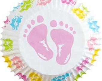 Baby Feet Baking Cups (75)