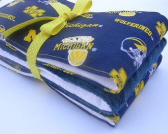 University of Michigan Burp Cloths (Set of 3)
