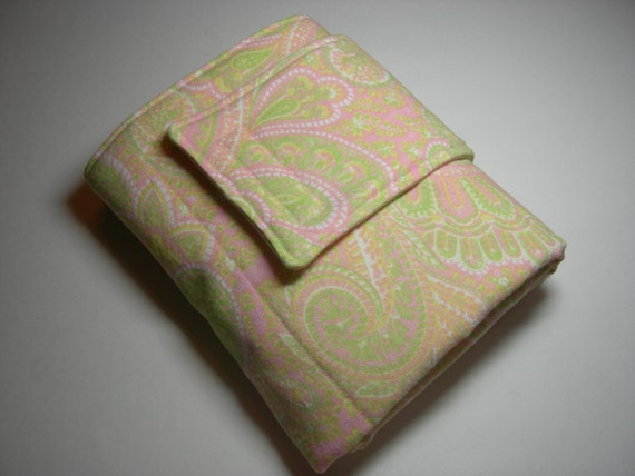 Paisley Pink & PUL Travel Diaper Changing Pad