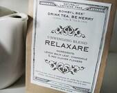 RELAXARE Herbal Tea Blend. Lemon Balm Leaf, Chamomile Flower & Red Clover Flower caffeine-free loose leaf: 3 oz.