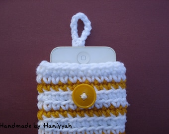 Iphone case cover sleeve cozy bag - Ipod Touch  case cover sleeve cozy bag - handmade crochet