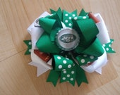Team Spirit - Bottle Cap big Hair bow clip/ football / baseball