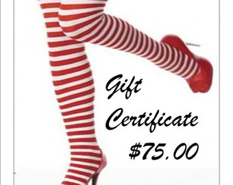 Gift Certificate for 75.00 A Great Gift For Your Special Someone