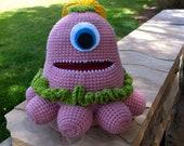 Pink and Green Crochet Amigurumi Octopus - Bella