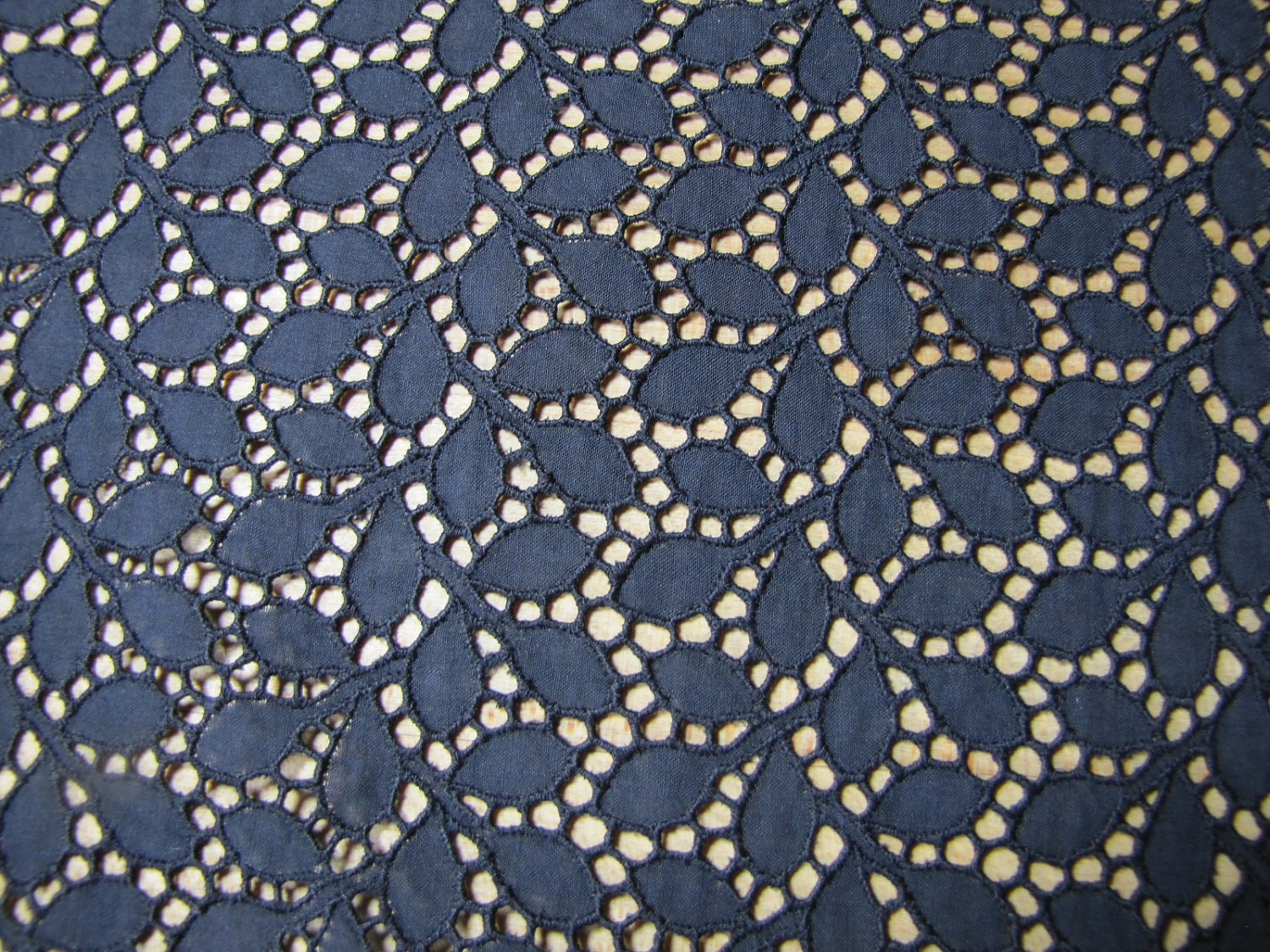 Black eyelet fabric black cotton lace fabric big piece of for Fabric sellers