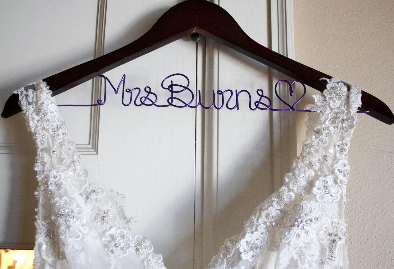 Bridal Hanger Wedding Dress Hanger Bride Hanger Bride Gift