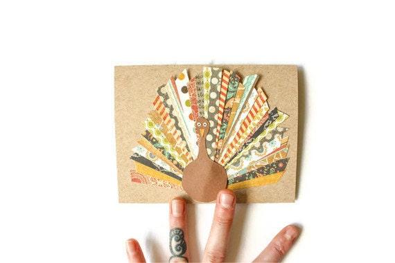 Scrap Paper TURKEY card