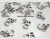 SALE_ last 5pcs-16mm Ohm Aumn silver charm, bracelet charm, connector, necklace, components, drop link, pendants