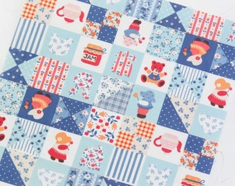 Sunbonnet Sue Patch in Blue Cotton Blend per Yard 23493