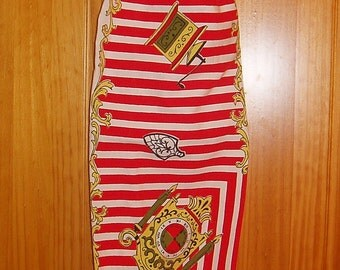 Grocery Bag Holder Made From Vintage Tablecloth//Free Shipping