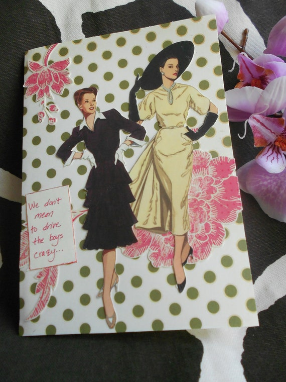 Dynamic Duo, birthday card, Anne Taintor card, greeting card, thank you card