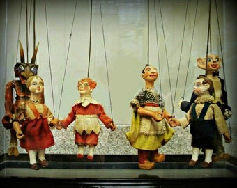 Vintage Czech Marionettes - 8 X 10 Print - Fine Art Photography - Shabby Chic - Home Decor