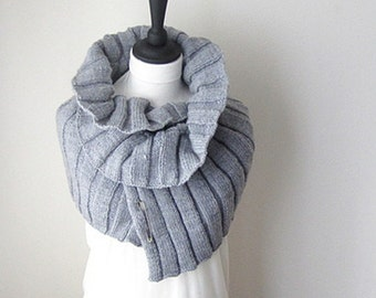 Silver grey shawl, grey shawl, knitted grey wrap, ladies fashion winter accessories, yarnawayknits