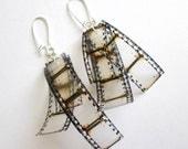 Mylar film reel earrings