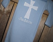 Personalized Baptism/Christening Cross layette