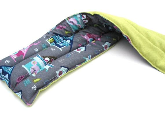 Gray Magenta Heating Pad, Aromatherapy, Home grown Lavender Hot Pack, Hot Compress, Cookoo Clock