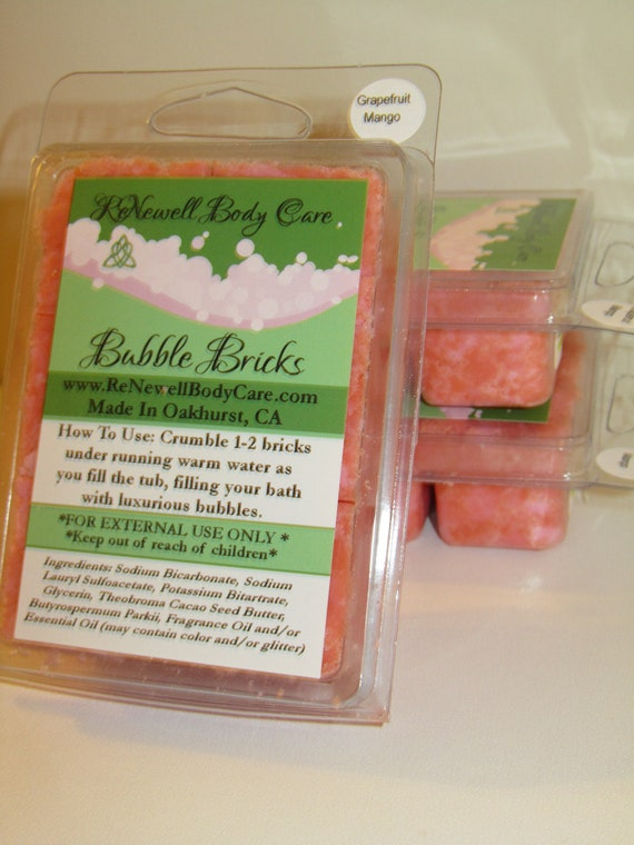 Grapefruit Mango Bubble Bricks