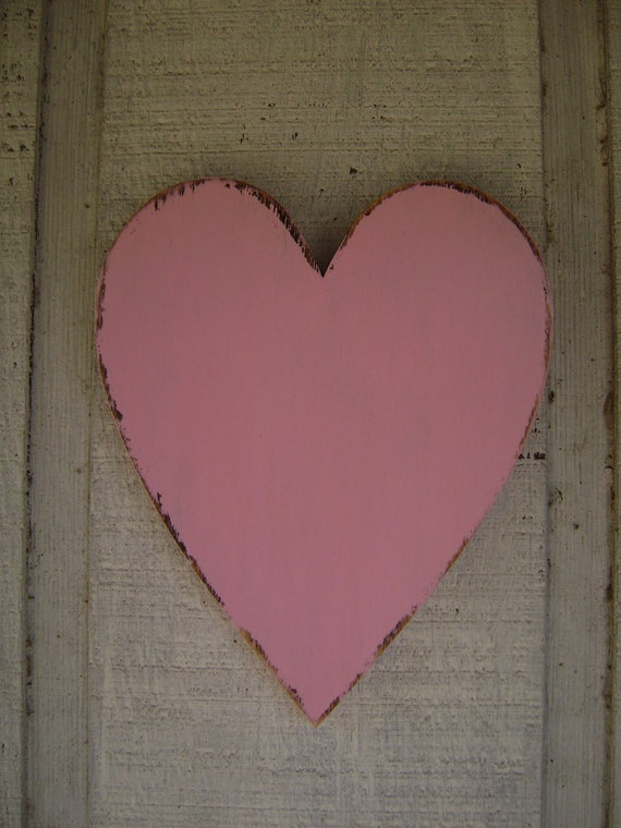 Rustic wooden heart rustic wall hanging decor wood heart for Wooden heart wall decor