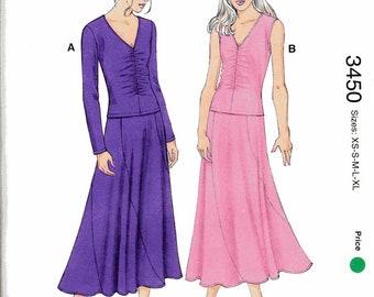 Womens Top and Skirt Pattern Kwik Sew 3450
