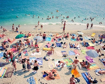 Beach Holiday Wall Art, Photo Print, Cinque Terre Italy Original Artwork