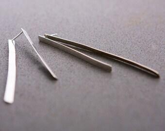 Double sided earrings - Silver earrings - Long earrings - Handmade jewelry - Gift for her - Gioiellibyliat