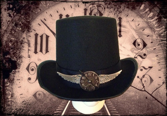 Steampunk Top Hat- Time Flies