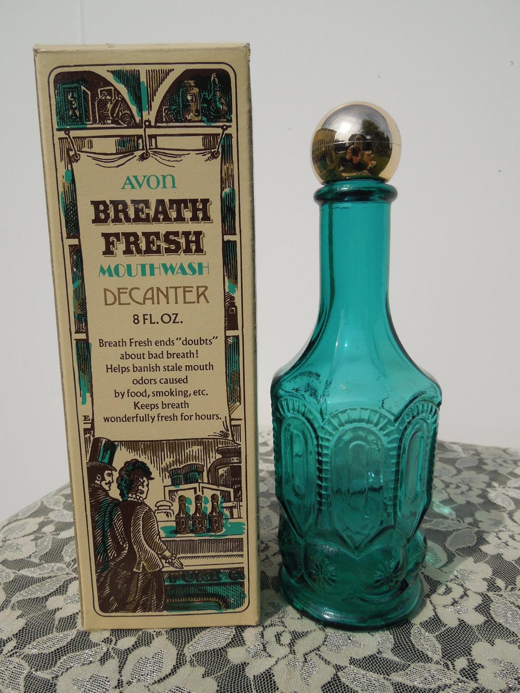 Avon Mouthwash Decanter