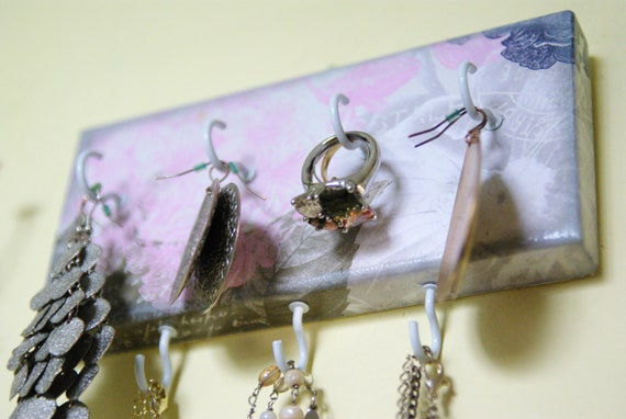 Key Holder / Jewelry Organizer, Shabby Chic, Rustic, Hooks