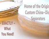 32 pcs. Cotton Flannel Round China-Dish Plate Separators Pads  - White -Handmade- for 8 sets- 4 sizes -32 pcs total-Custom