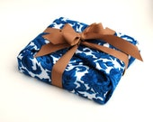 Luxury Gift Wrap, Vintage Fabric reusable gift wrap with Ribbon