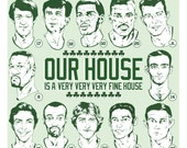 Boston Celtics Retired Numbers Illustrated Art Print - Our House