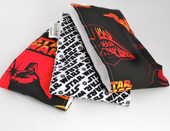 Star Wars Baby Burp Cloths - RARE and Out of Print - Set of Three