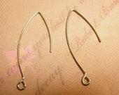 20pc nickel look earring wires(lead and nickel free)-6026