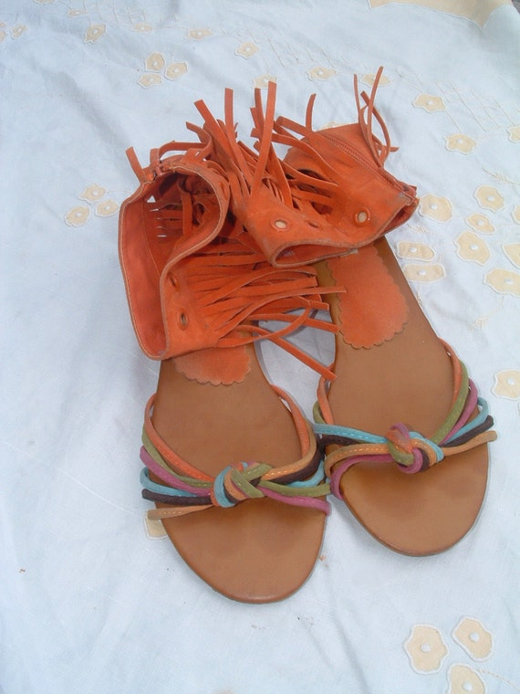reserved EXCELLENT SANDALS SIZE 40 pre-owned made in Italy circa 1980's