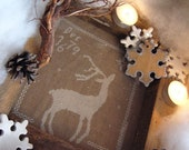Primitive cross stitch pattern: The First snowflake -  E-pattern