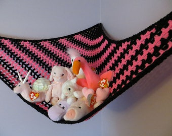 crochet toy   hammock in colors of your choice made to order stuffed animal storage stuff animal hammock   etsy  rh   etsy