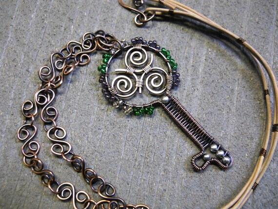 SALE - Celtic Triskele Key - Celtic Jewelry