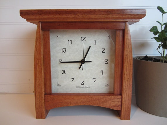 Mantle clock bungalow clock arts and crafts clock brazilian for Arts and crafts mantle clock