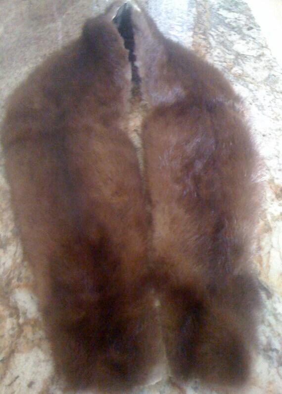 Vintage Genuine Brown Mink Fur Collar