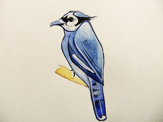 Bluejay-Original Watercolor Painting