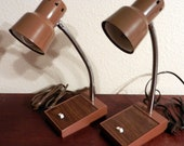 Reserved for Clarisse/Gooseneck Lamps/Matched Set /Industrial Lighting/SALE 25% Off