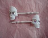 Swarovski Skull Hair Pins